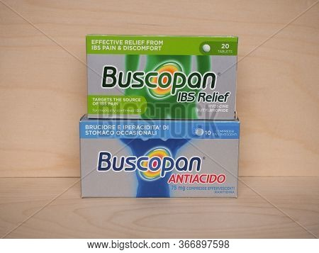 Buscopan Ibs Relief And Antacid Pills In London