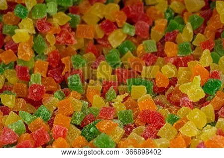 Colorful Rainbow Multi-color Marmalade Jelly Candy Candies. Juicy Colorful Jelly Sweets.