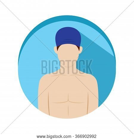 Isolated Swimmer Icon. Professions Or Occupations Icons - Vector
