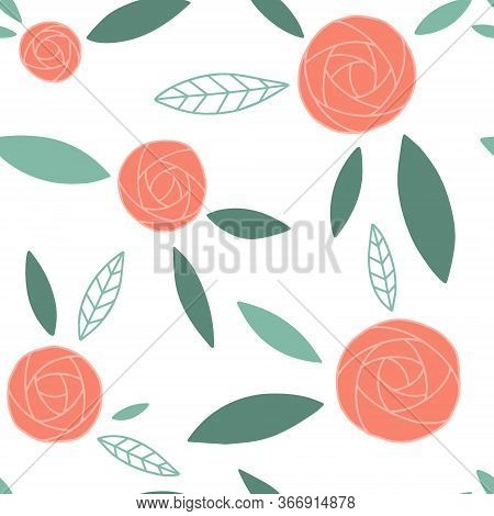 Floral (ranunculus) Seamless Pattern Print. Floral Texture Perfectly For Fabric, Wrapping Paper And
