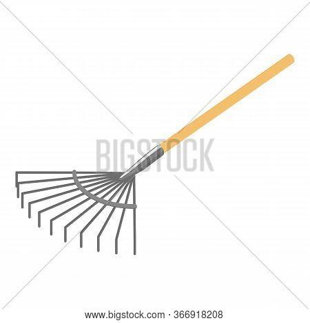 Leaf Rake Icon. Isometric Of Leaf Rake Vector Icon For Web Design Isolated On White Background