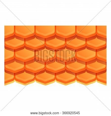 Residential Roof Icon. Cartoon Of Residential Roof Vector Icon For Web Design Isolated On White Back