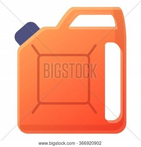 Plastic Canister Icon. Cartoon Of Plastic Canister Vector Icon For Web Design Isolated On White Back