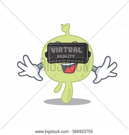 A Cartoon Image Of Lymph Node Using Modern Virtual Reality Headset