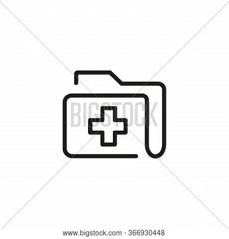 Icon Of Medical History. Disease, Archive, Report. Heathcare Concept. Can Be Used For Topics Like Ho