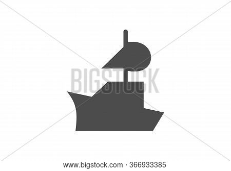 Cruise Ship Logo Template Vector Icon Illustration Design, Ship Logo, Nautical Sailing Boat Icon Vec