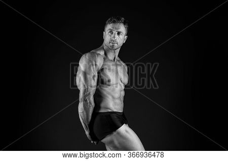 Power Of Muscles. Perfect Shape. Bodybuilder Concept. Bodybuilder Man Strong Body. Bodybuilder Six P