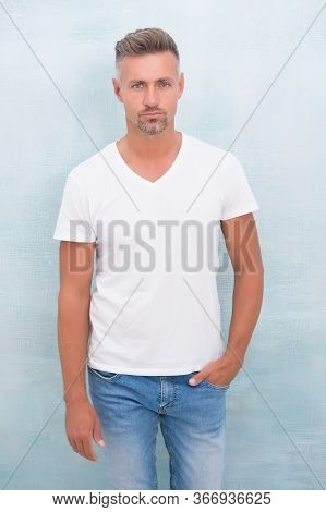 Confident In His Style. Fashionable Look Of Trendy Man. Menswear Concept. Elegant And Stylish Macho.
