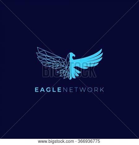 creative eagle and network logo vector illustration isolated on dark background . Eagle icon, Eagle Design Vector, Luxury Eagle, Eagle Icon Picture, Eagle Icon Vector, Eagle Falcon, Eagle Logo white shield, Head Eagle logo Design, Eagle Falcon Vector Logo