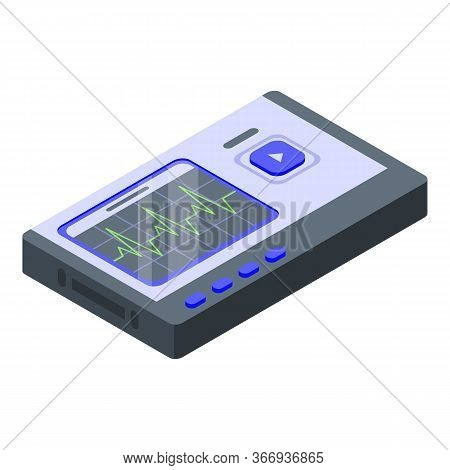 Cardiologist Device Icon. Isometric Of Cardiologist Device Vector Icon For Web Design Isolated On Wh