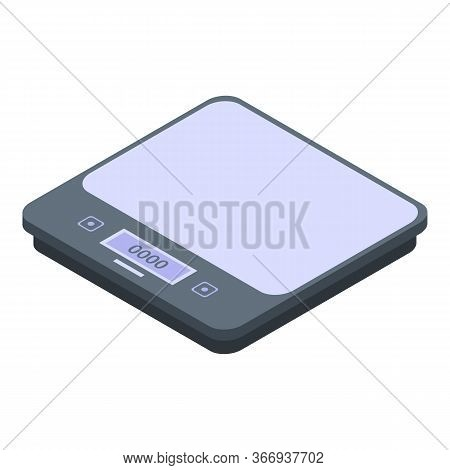 Home Weigh Scales Icon. Isometric Of Home Weigh Scales Vector Icon For Web Design Isolated On White