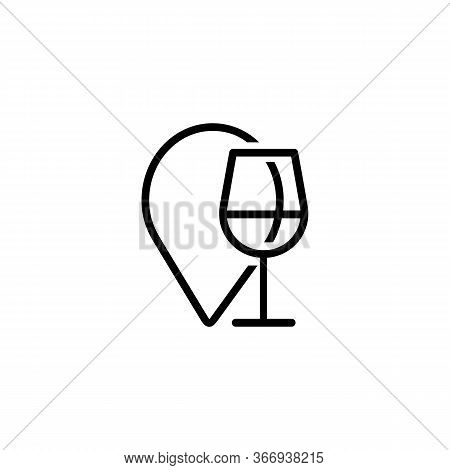 Icon Of Drinking Establishment. Beverage, Destination, Drink. Alcohol Concept. Can Be Used For Topic