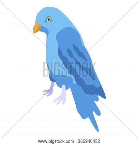 Blue Parrot Icon. Isometric Of Blue Parrot Vector Icon For Web Design Isolated On White Background
