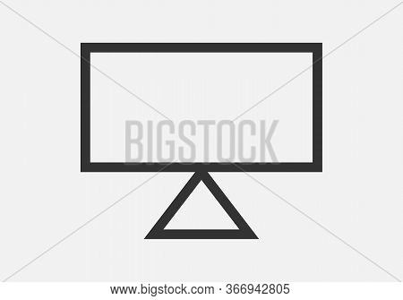 Computer Screen Icon, Computer Screen Icon Image, Monitor Icon Vector Isolated On White Background