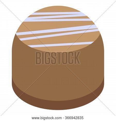 Chocolate Bonbon Icon. Isometric Of Chocolate Bonbon Vector Icon For Web Design Isolated On White Ba