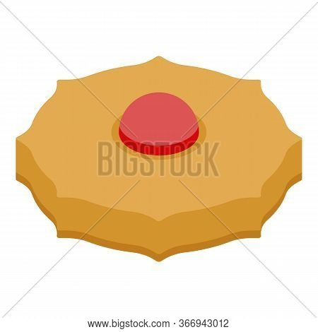 Biscuit With Jelly Icon. Isometric Of Biscuit With Jelly Vector Icon For Web Design Isolated On Whit