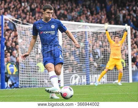 London, England - September 22, 2019: Andreas Christensen Of Chelsea Pictured During The 2019/20 Pre