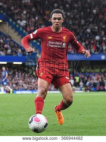 London, England - September 22, 2019: Trent Alexander-arnold Of Liverpool Pictured During The 2019/2
