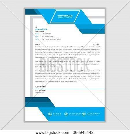 Corporate Letterhead Design Modern Business Letterhead Design Template Vector