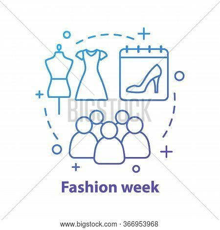 Fashion Week Concept Icon. Clothes Design. Fashion Show Idea Thin Line Illustration. Vector Isolated
