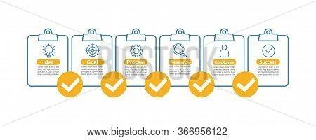 Business Development Vector Infographic Template. Goal Achieving. Idea Realization. Business Present