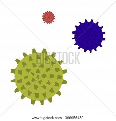A Set Of Massage Balls For Massage And Self-massage. Vector Illustration.