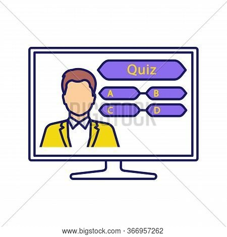 Tv Quiz Show Color Icon. Television Intellectual Game. Online Quiz. Trivia Contest. Lottery. Isolate