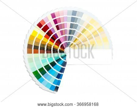 Color Card Palette, Samples For Colour Definition. Guide Of Paint Samples, Colored Catalog. Photo Cl