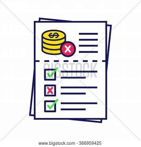 Audit Risk Color Icon. Profit And Loss Report. Financial Statement. Annual Report. Accounting And Bo