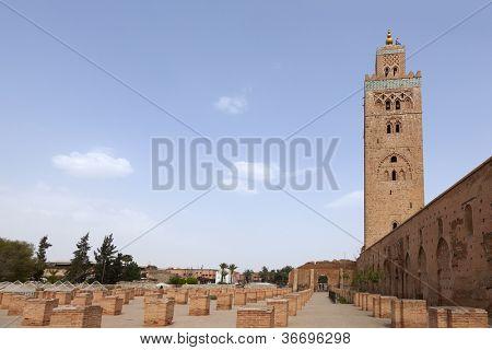 Koutoubia mosque in Marrakesh, Morocco, April 1, 2012 poster