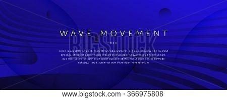Black Futuristic Background. Fluid Shape Texture. 3d Landing Page. Wave Business Motion. Dynamic Vib