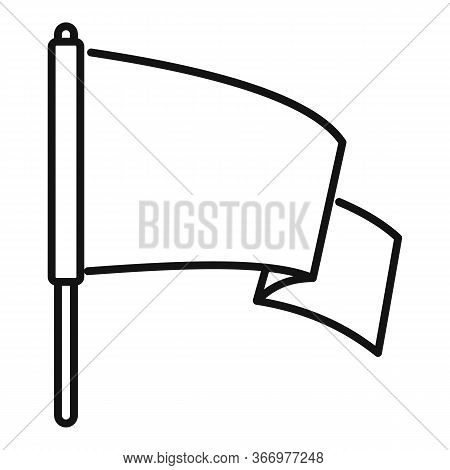 Peace Flag Icon. Outline Peace Flag Vector Icon For Web Design Isolated On White Background
