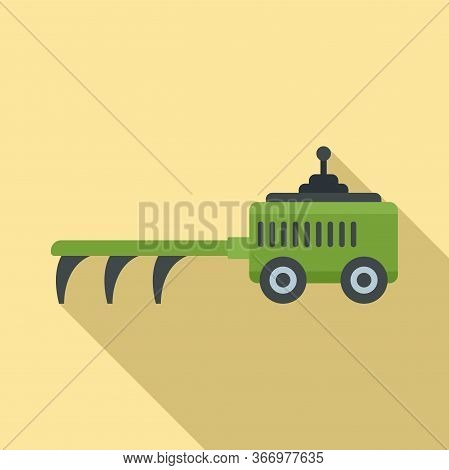 Agricultural Cultivator Icon. Flat Illustration Of Agricultural Cultivator Vector Icon For Web Desig
