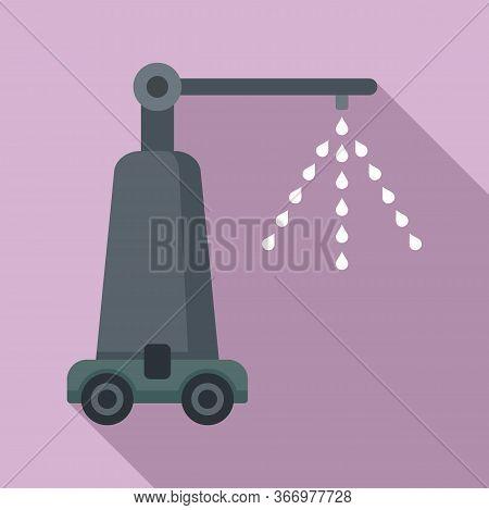 Spraying Farm Machine Icon. Flat Illustration Of Spraying Farm Machine Vector Icon For Web Design