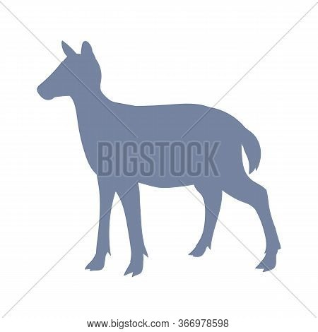 Cute French Farmhouse Deer Silhouette Vector Clipart. Hand Drawn Shabby Chic Style Country Farm Kitc