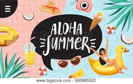 Summer Vacation Concept. Typography Slogan