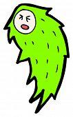 halloween green fire ghost cartoon poster