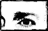 grunge eye background poster
