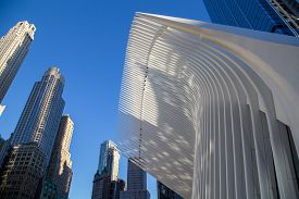 New York, United States Of America - September 19, 2019: Exterior View Of The Roof Structure Of The