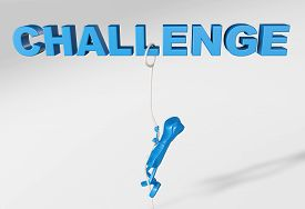 3d Rendering Of A Telephone Character Aiming To Overcome A Challenge Climbing On A Rope