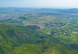 Aerial View Of Rose Valley In Bulgaria
