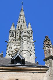 Notre Dame Church, Fontenay-le-comte, France, Above The Rooftops