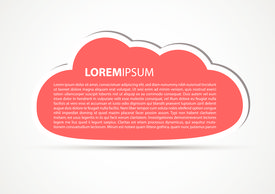 cloud vector background with textbox. Full editable vector.