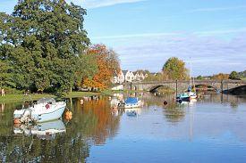 Bridge Over The River Dart At Totnes In Autumn