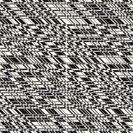 Vector Monochrome Seamless Pattern With Cross Lines, Stripes, Grid, Lattice, Net. Simple Minimal Tex