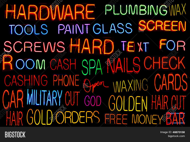 Neon Alphabet Symbols Image Photo Free Trial Bigstock