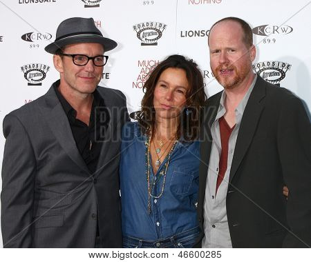 LOS ANGELES - JUN 5:  Clark Gregg, Jennifer Grey, Joss Whedon arrives at the