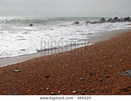 Shingle And Sea