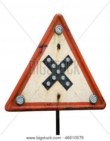 Road Crossings Retro Sign