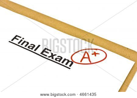 Final Exam Marked With A+